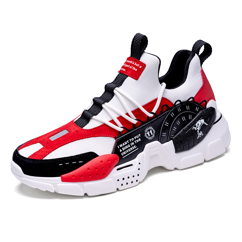 White/Red/Black Odyssey Sneakers ONEMIX Men's Comfortable Shoes