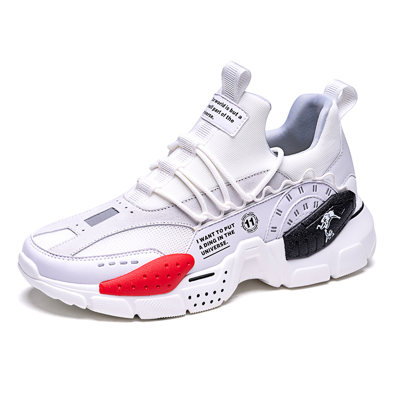 White/Red Odyssey Shoes ONEMIX Retro Men's Breathable Sneakers