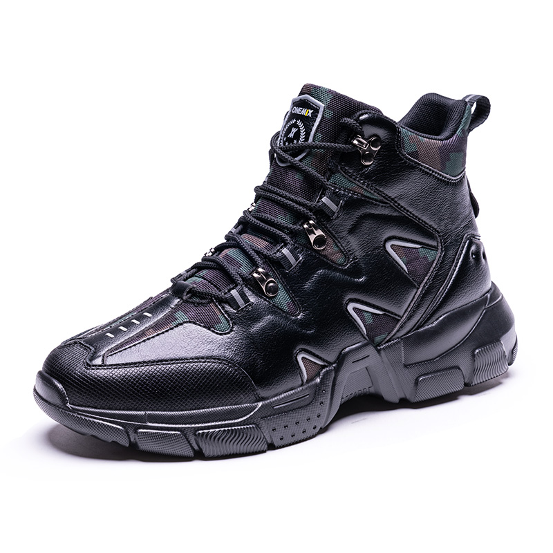 Black Tornado Climbing Boots ONEMIX Men's Waterproof Shoes