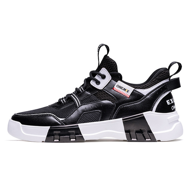 Black/White Chunky Fresh Shoes ONEMIX Men's Comfortable Sneakers