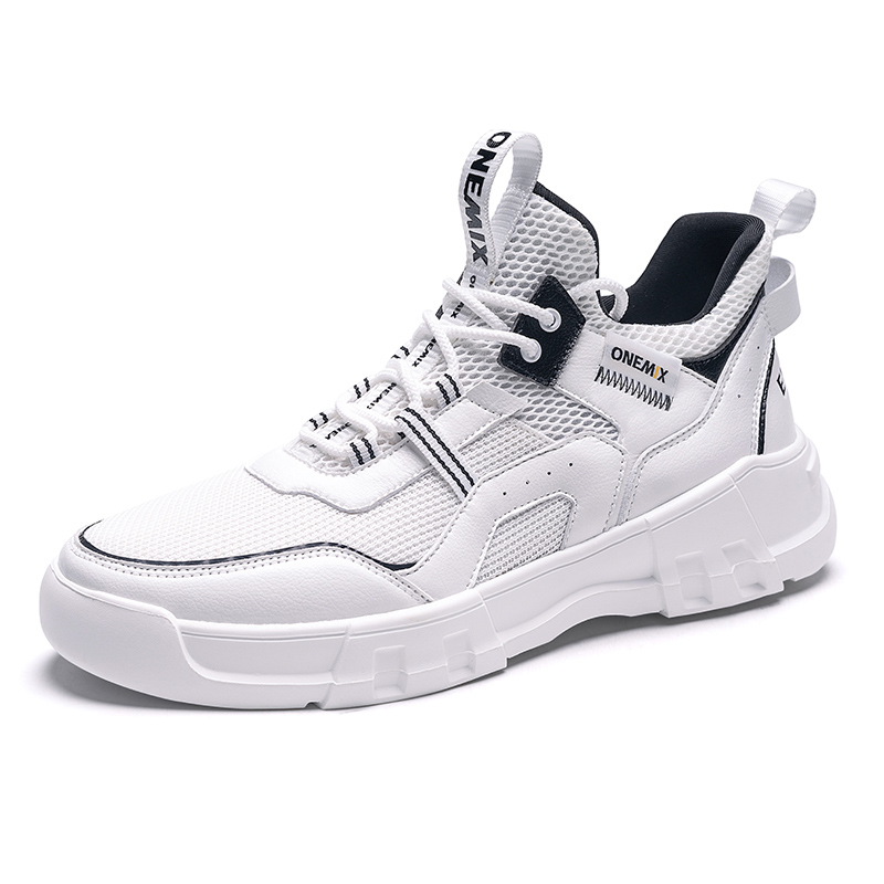 White/Black Chunky Walking Shoes ONEMIX Men's Lifestyle Sneakers
