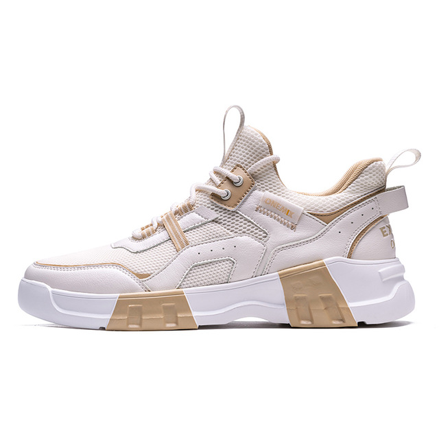Ivory/White Chunky Sport Sneakers ONEMIX Men's Outdoor Shoes
