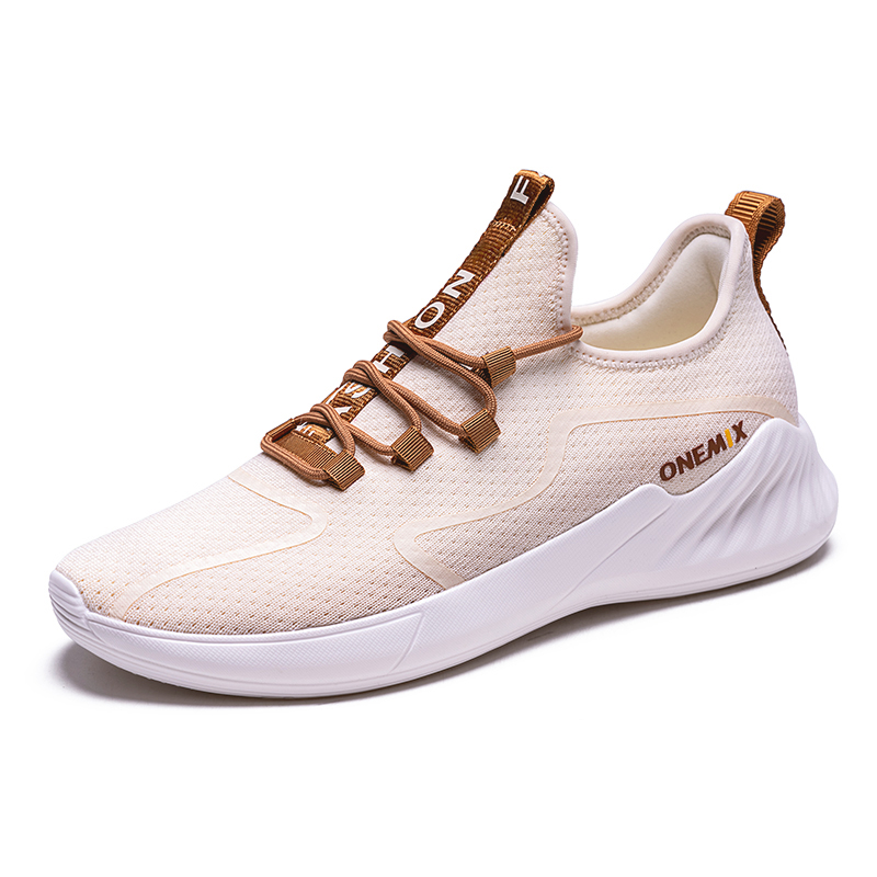 Ivory Dove Shoes ONEMIX Men's Lightweight Sneakers