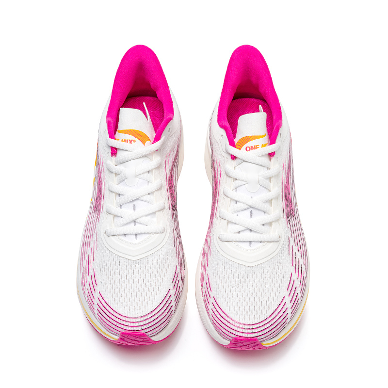 Peach/White Lightning Sneakers ONEMIX Women's Workout Shoes