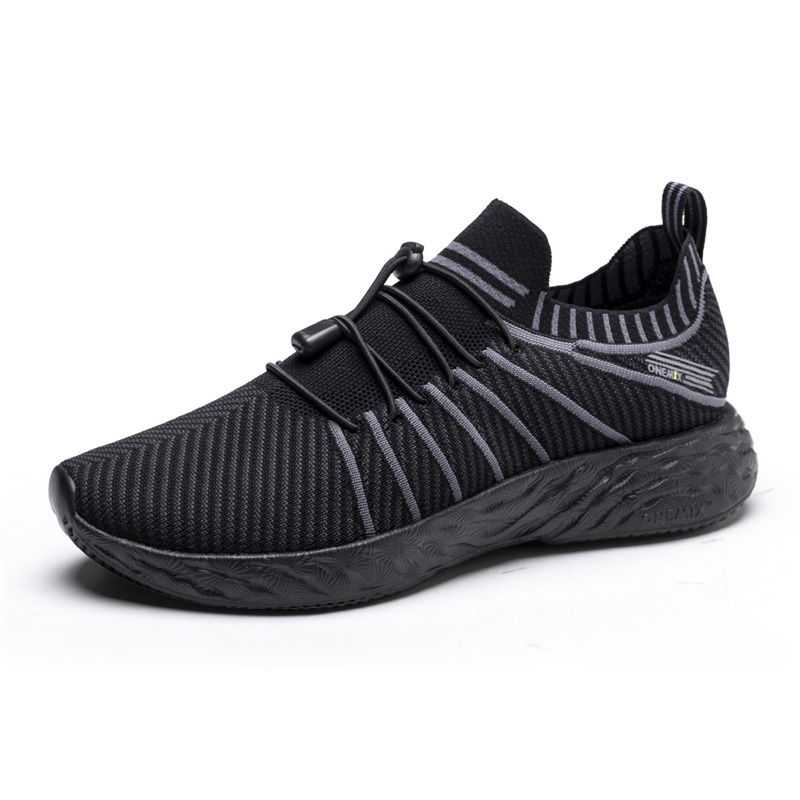 All Black Summer ONEMIX Kids Comfortable Running Shoes